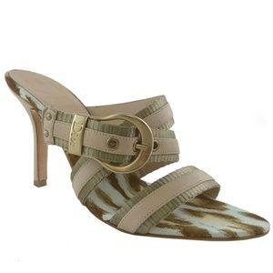 Christian Dior Calfskin Buckle Mules Size 6